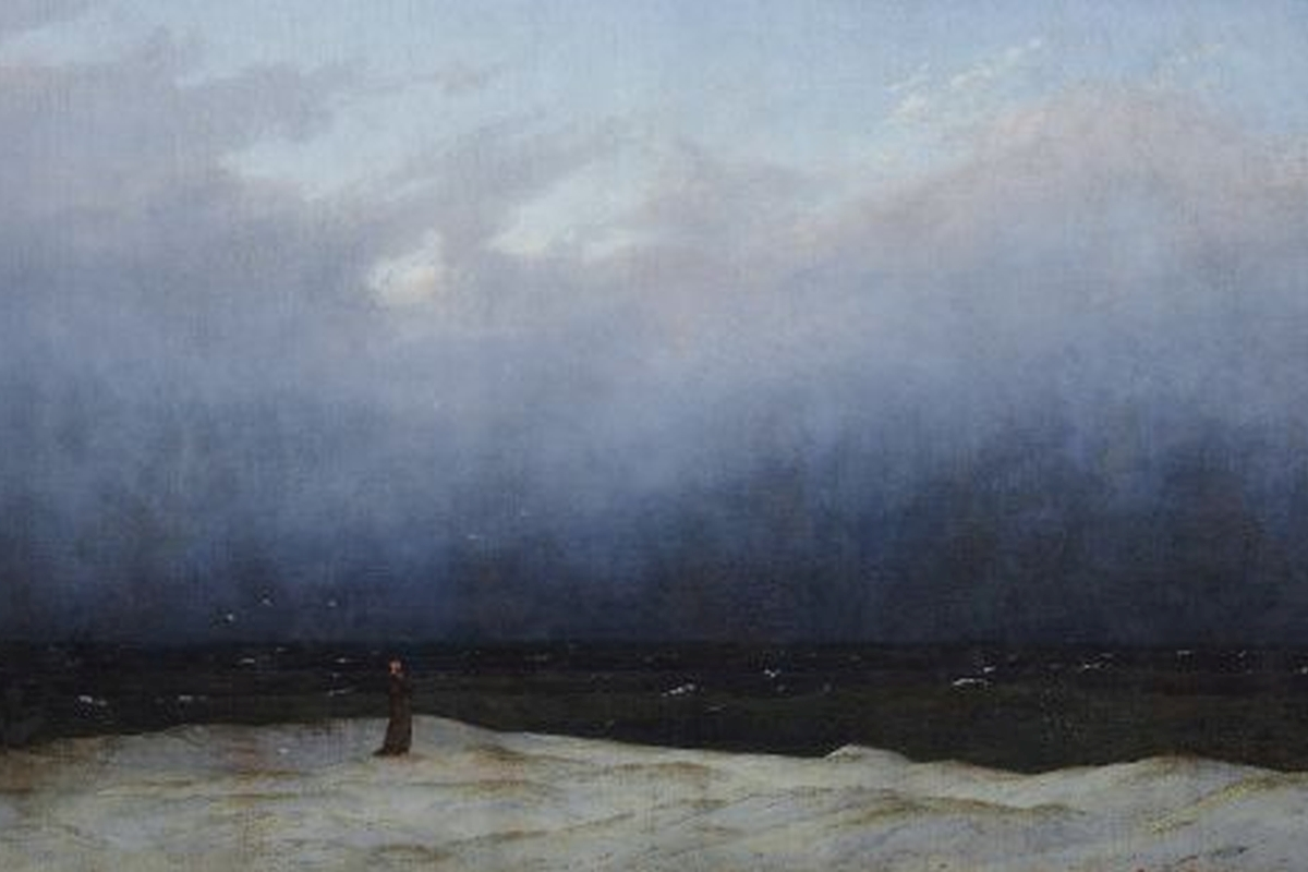Kunstdruck Friedrich, Mönch am Meer