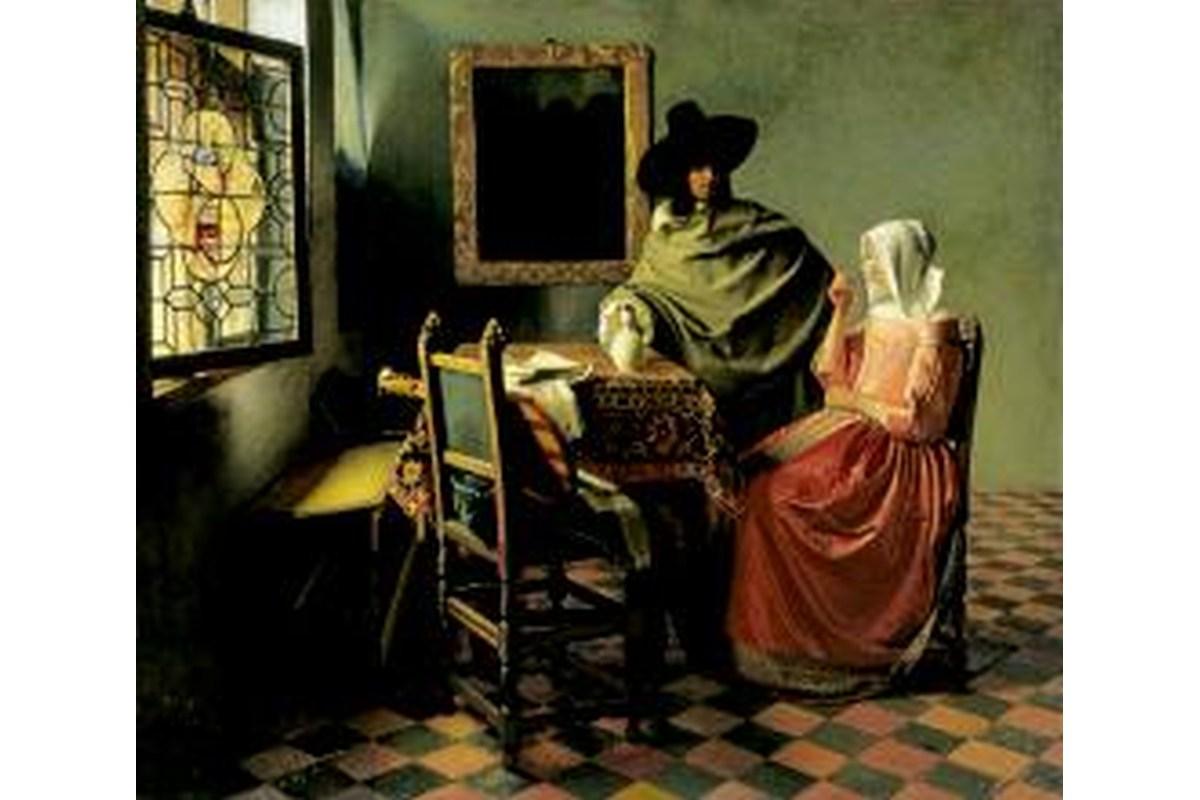 Miniprint Vermeer, Das Glas Wein