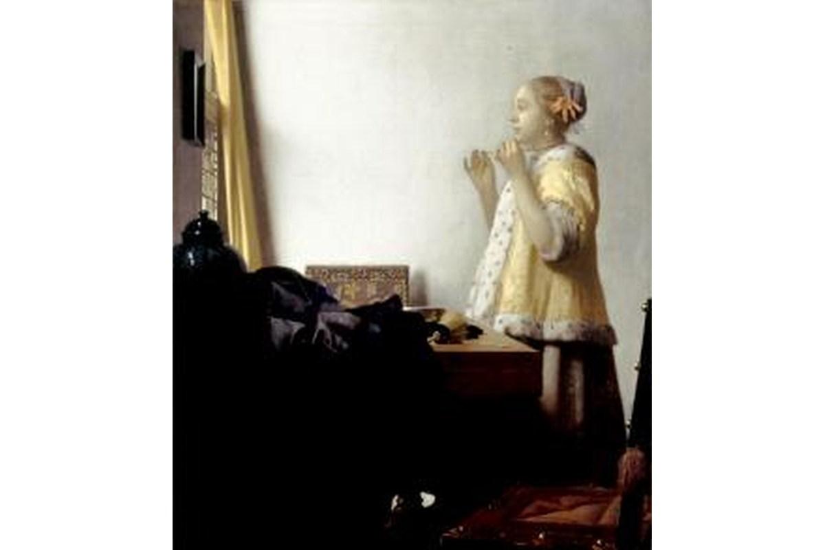 Miniprint Vermeer, Junge Dame mit Perlenhalsband