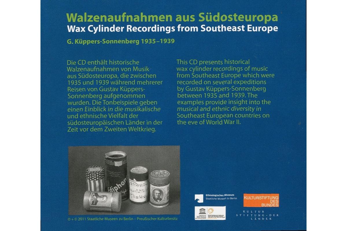 Walzenaufnahmen aus Südosteuropa