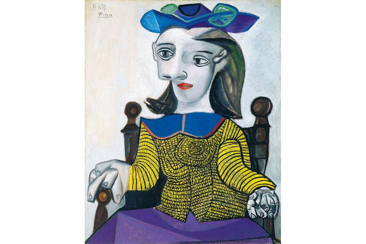 Kunstdruck Picasso, Der gelbe Pullover