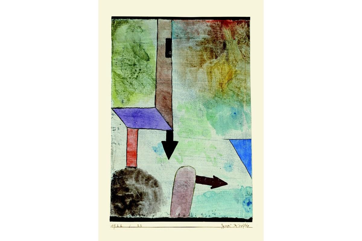 Kunstdruck Klee, Zwei Kräfte