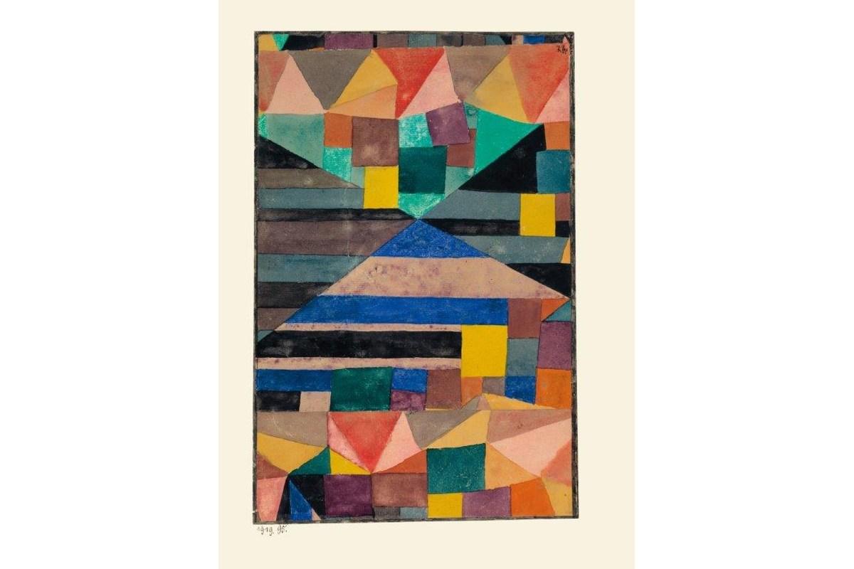Kunstdruck Klee, Blauer Berg
