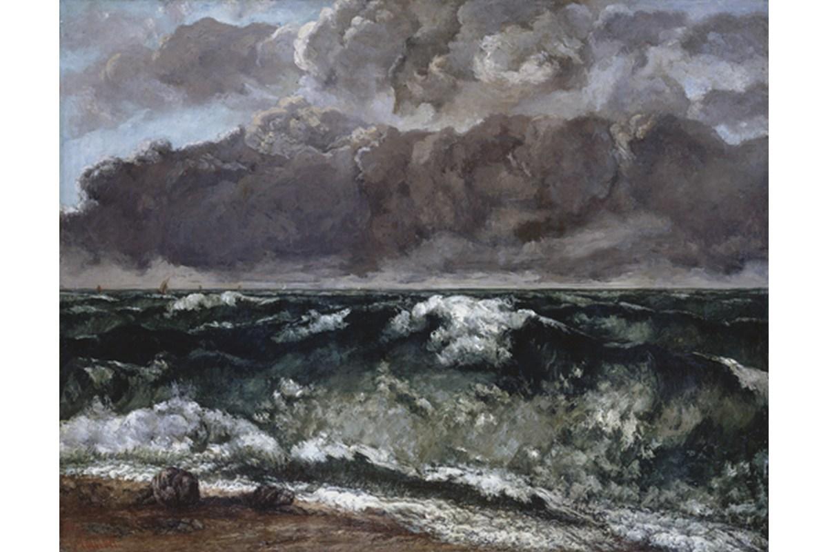Kunstdruck Courbet, Die Welle