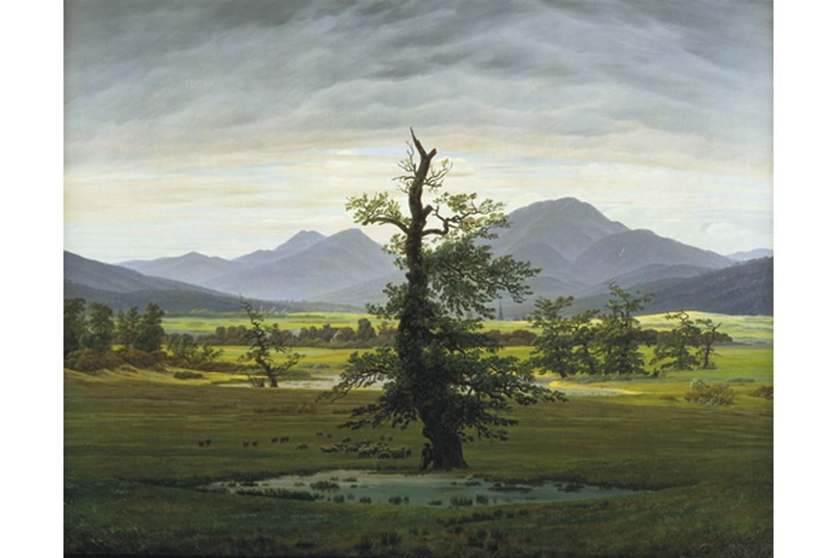 Kunstdruck Friedrich, Der einsame Baum