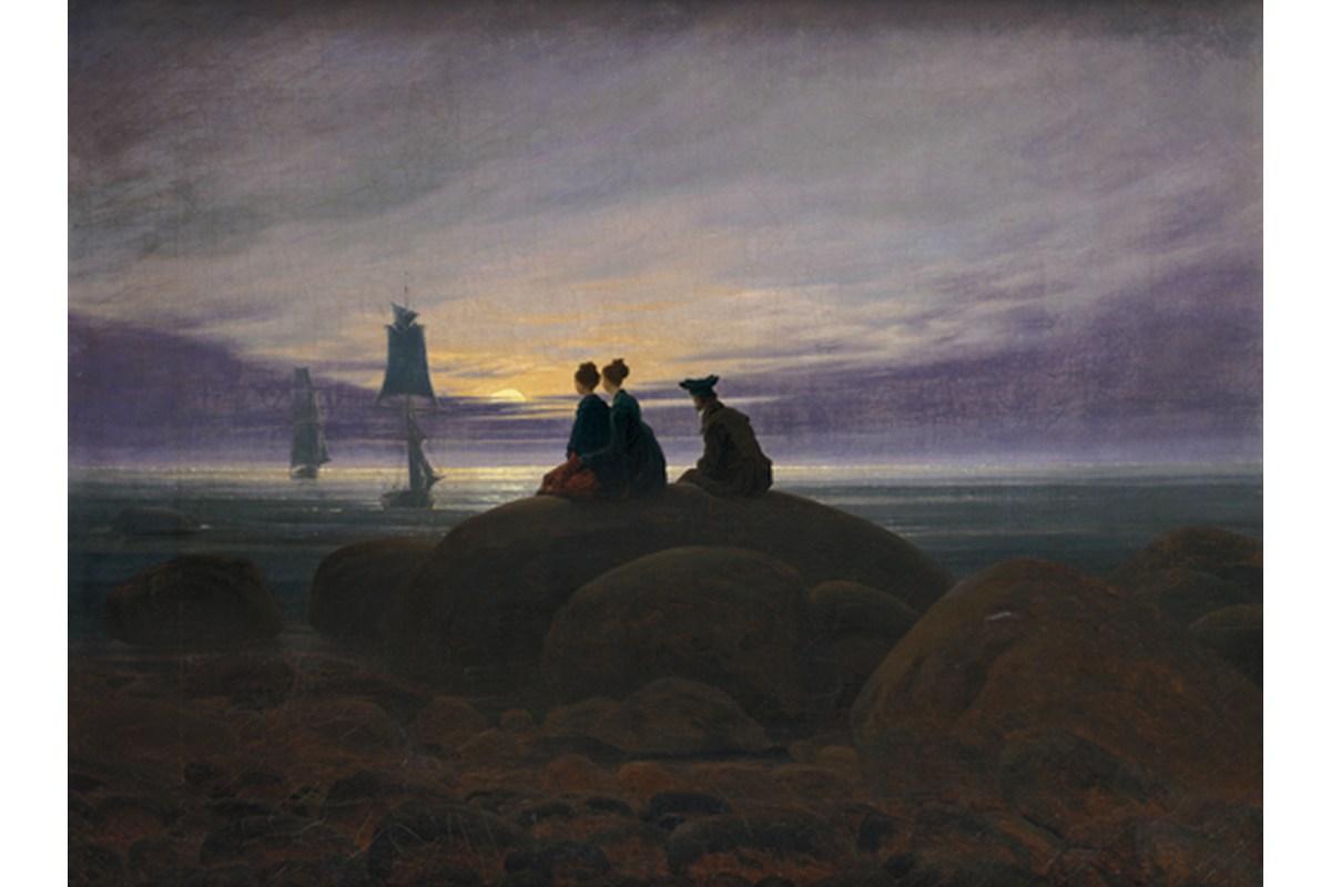 Kunstdruck Friedrich, Mondaufgang am Meer