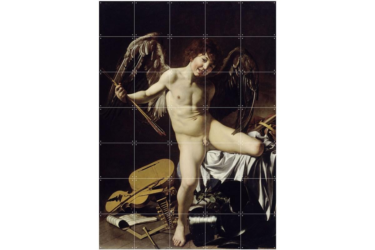 Wandbild Caravaggio (groß), Amor als Sieger