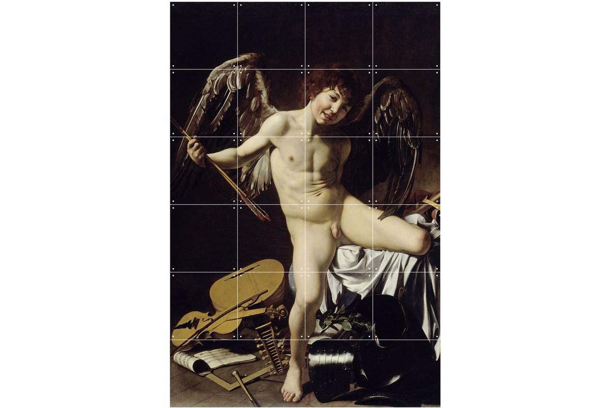 Wandbild Caravaggio (klein), Amor als Sieger