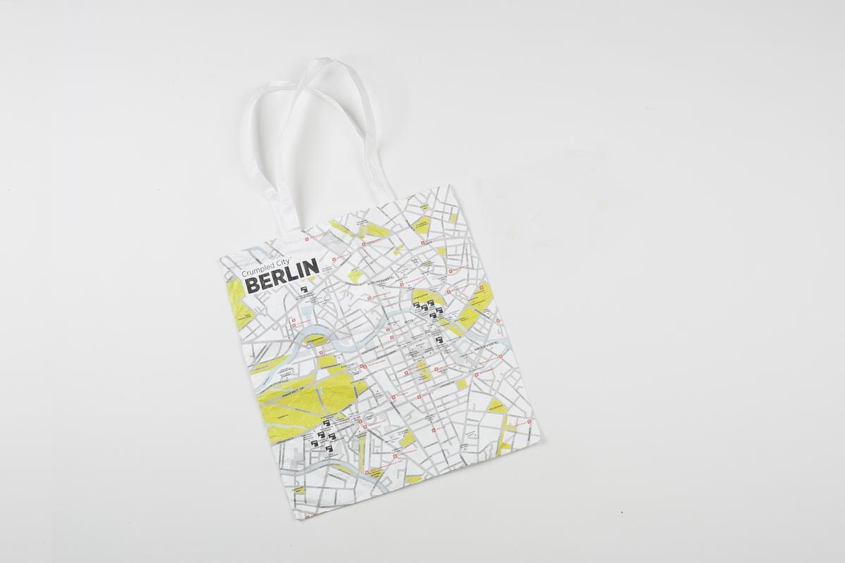 Einkaufstasche groß: Crumpled City Berlin