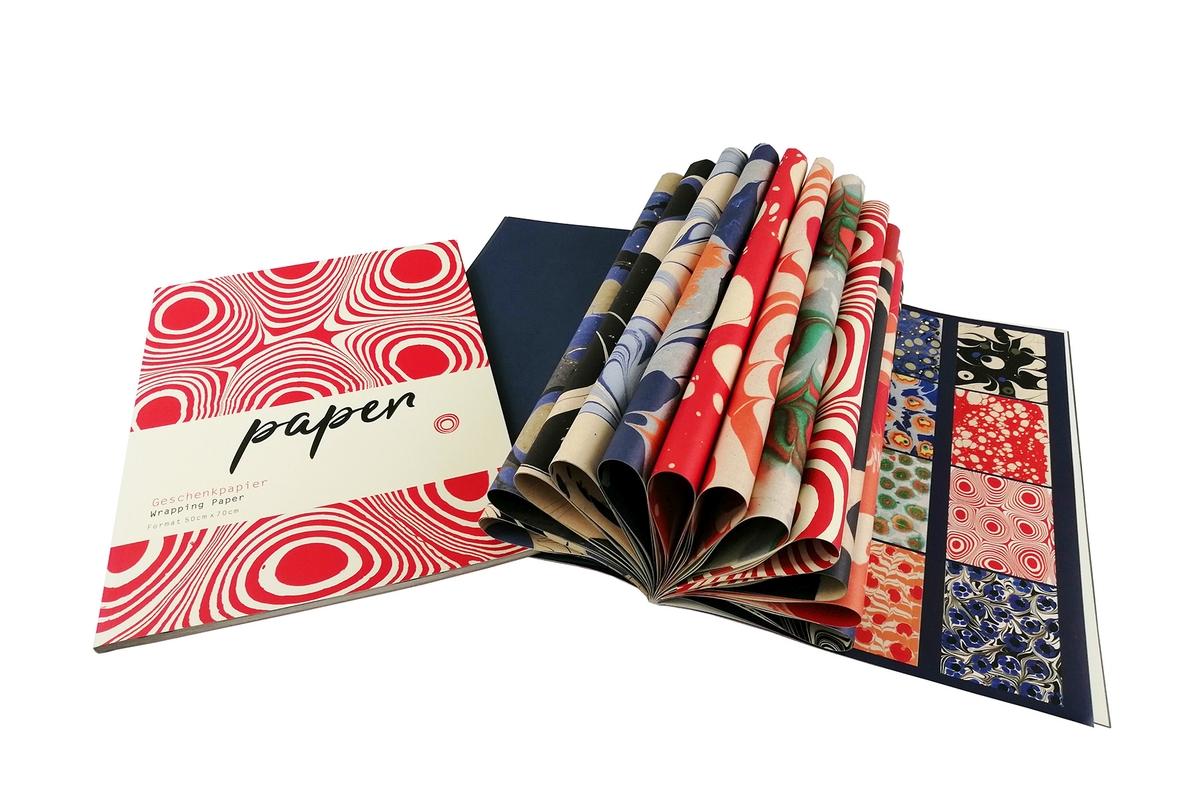Geschenkpapier: Marmorpapiere