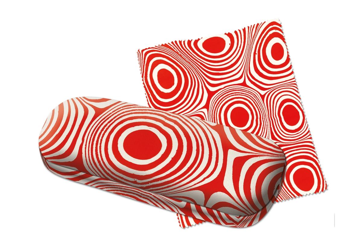 Brillenetui mit Tuch: Marmorpapier