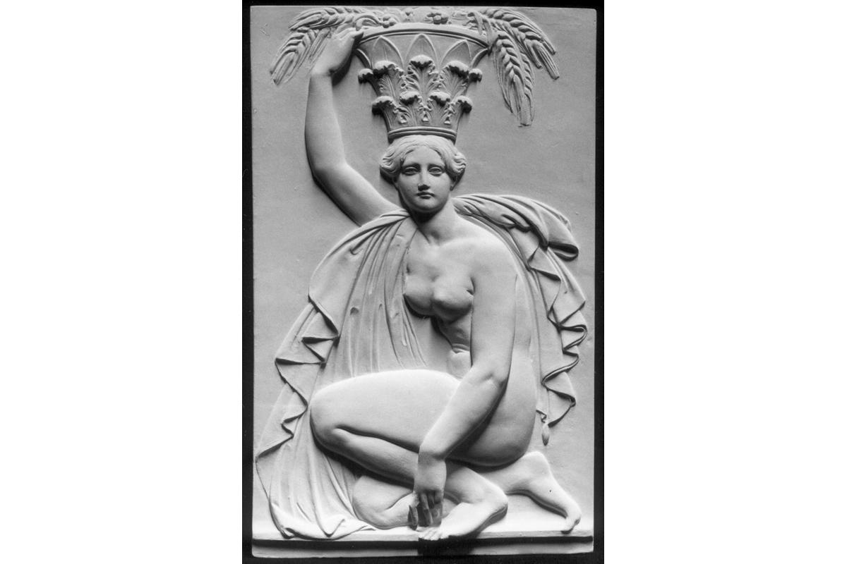 Replikat bemalt: Tieck: Portalschmuck Korinthischer Stil GF 2541