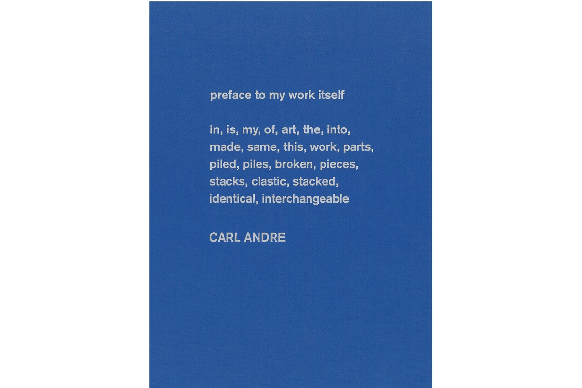 Carl Andre: Sculpture as Place 1958-2010 - english edition