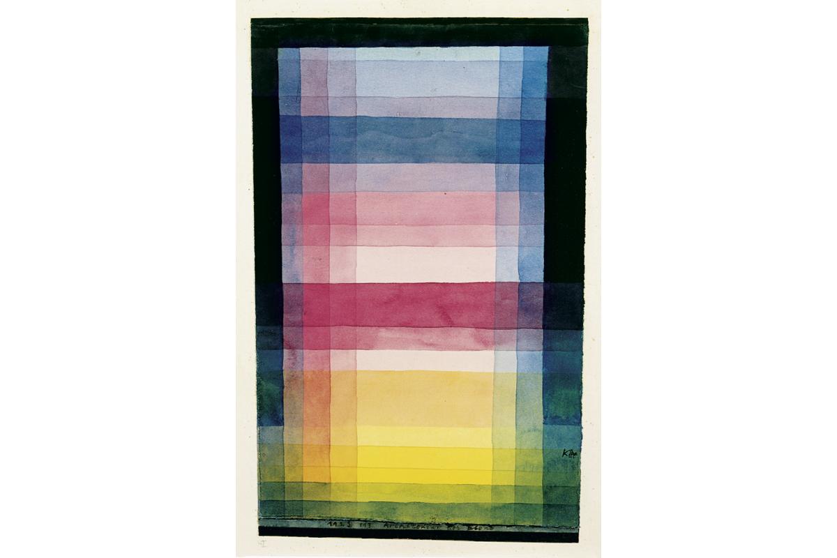 Kunstdruck Klee: Architektur der Ebene