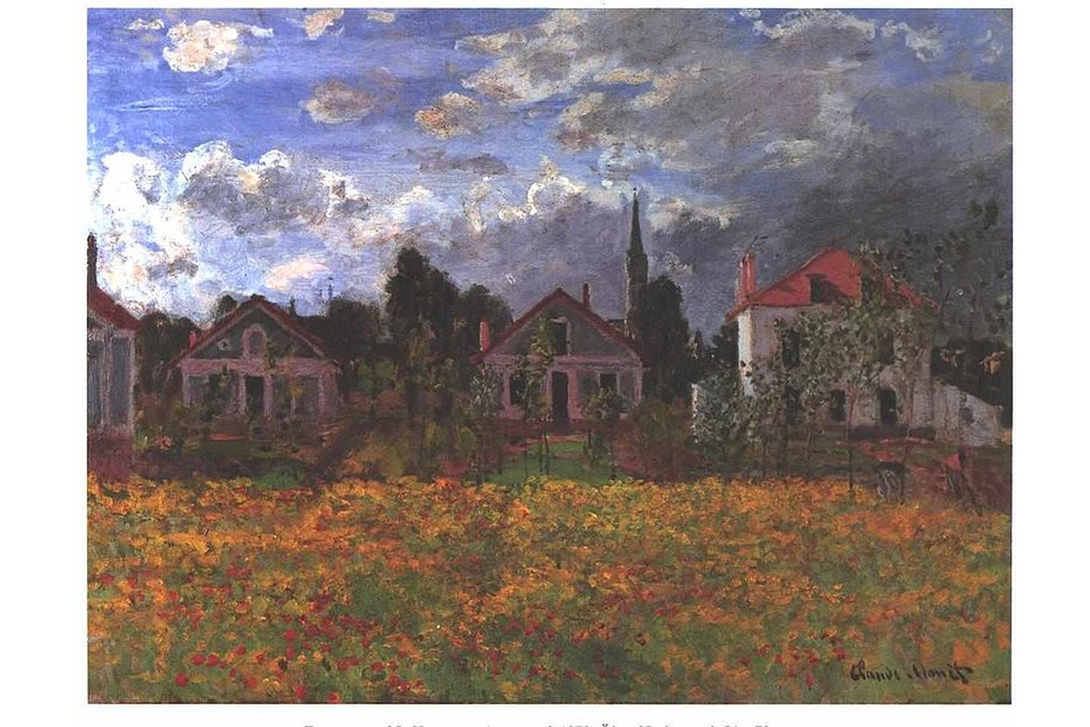 Art print Monet, Houses at Argenteuil