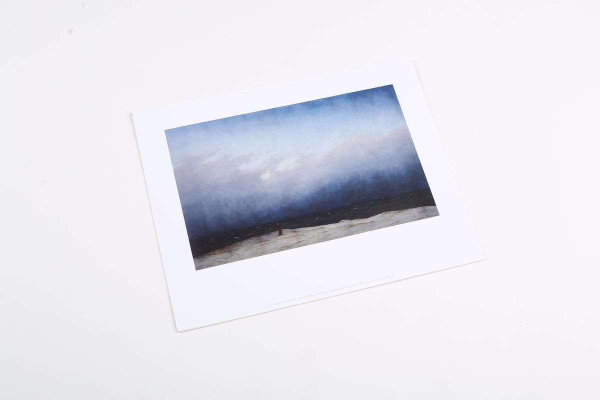Miniprint Friedrich, Mönch am Meer