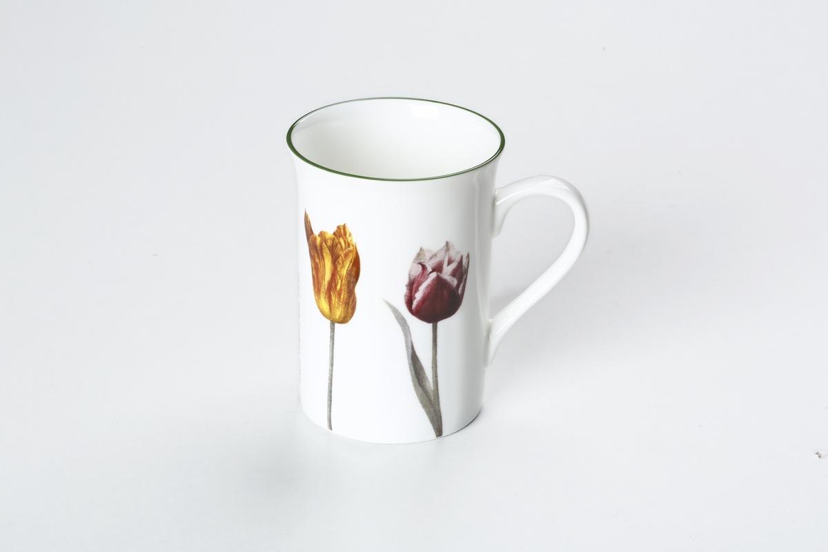 Tasse Zwei Tulpen, gelb/rot