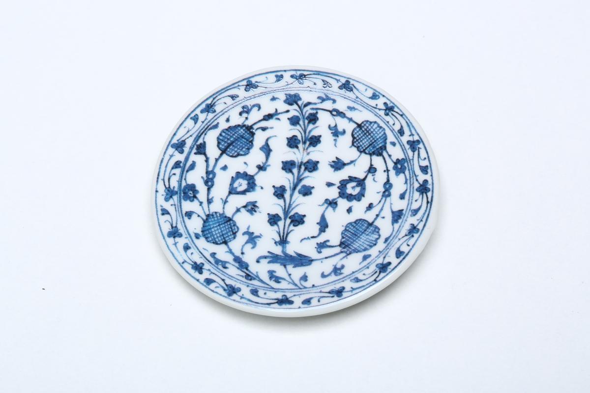 Tellermagnet Blau-Weiß-Dekor