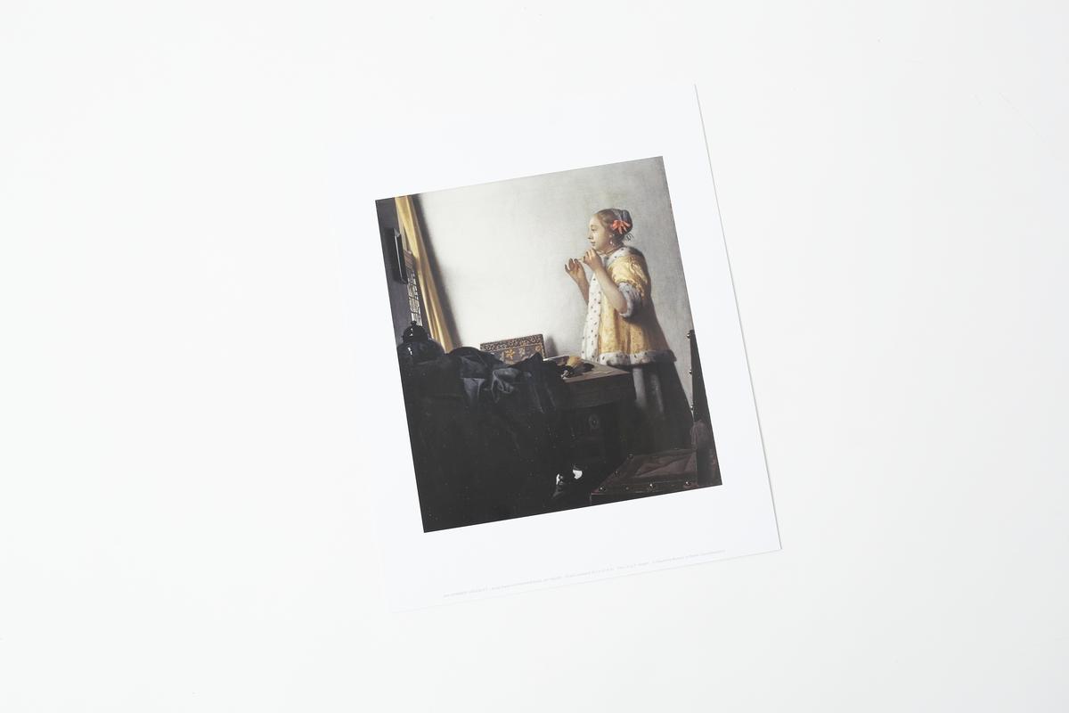 Miniprint Vermeer: Junge Dame mit Perlenhalsband