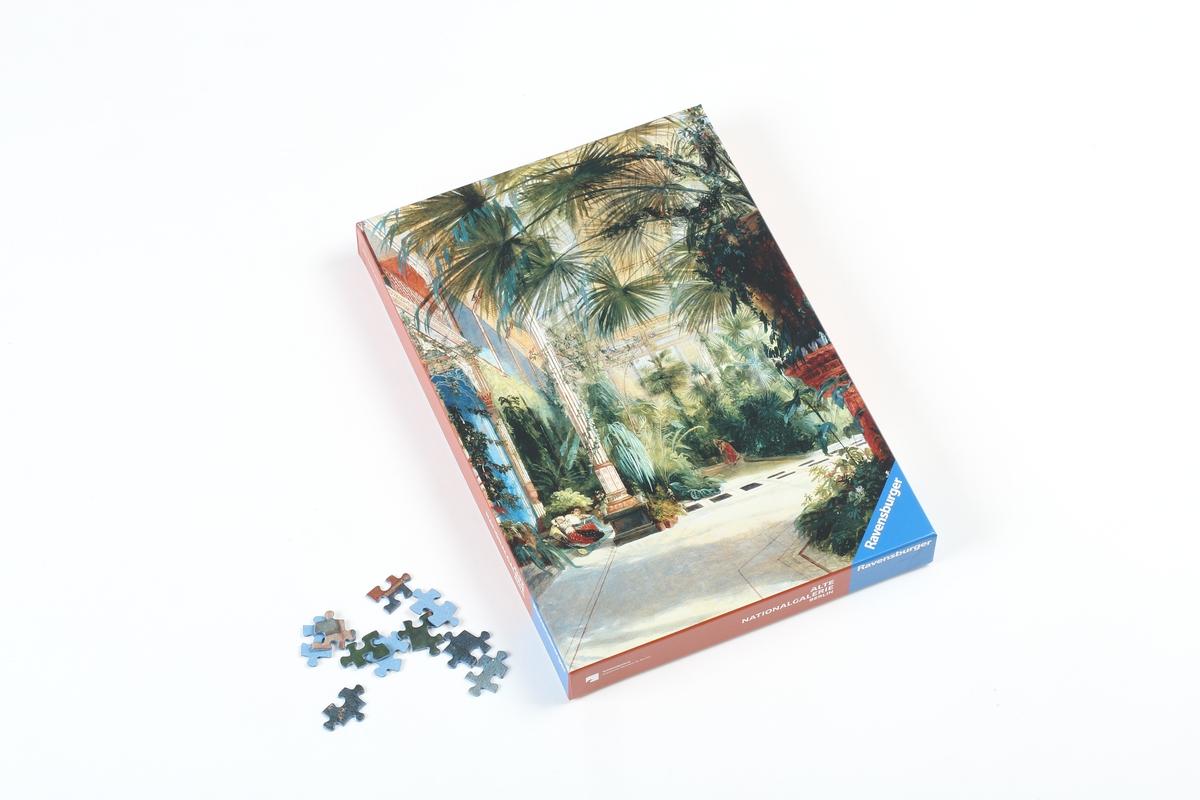 Puzzle Blechen, Das Innere des Palmenhauses