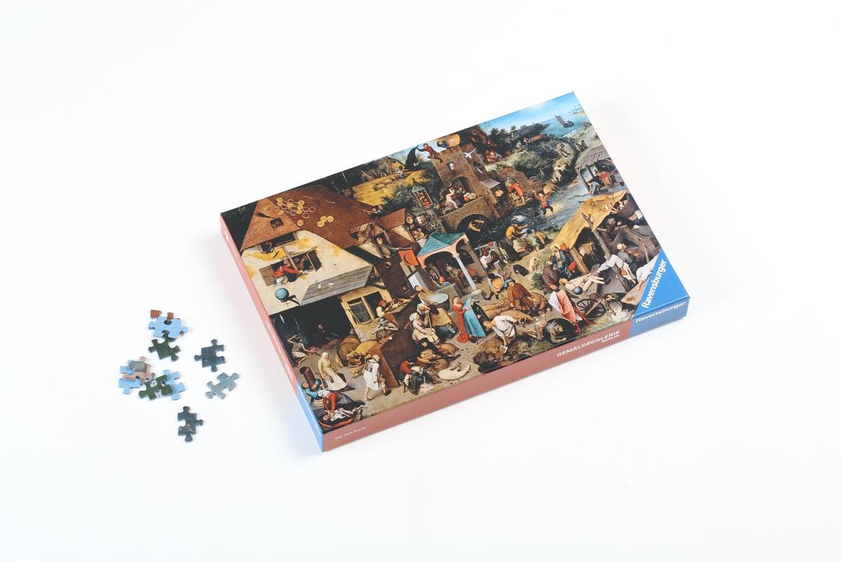 Puzzle Bruegel d.Ä., Die niederländischen Sprichwörter