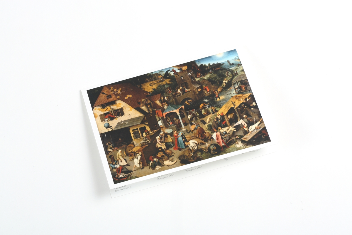 Carte pliante Bruegel l'Ancien: Les Proverbes flamands