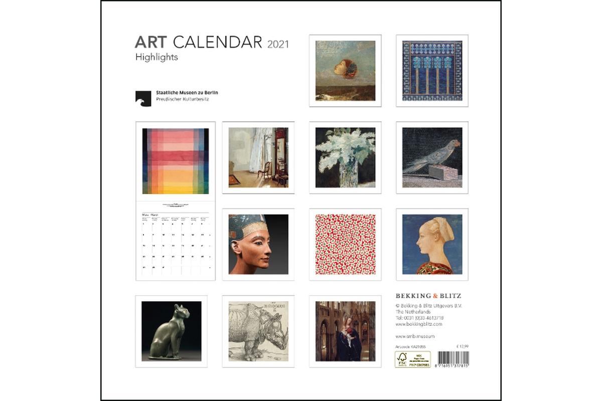 Wandkalender 30x30cm Art Highlights 2021