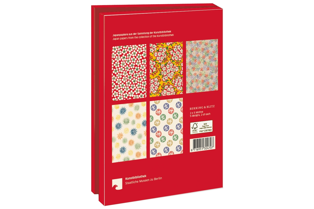 Grußkartenset Japanpapiere