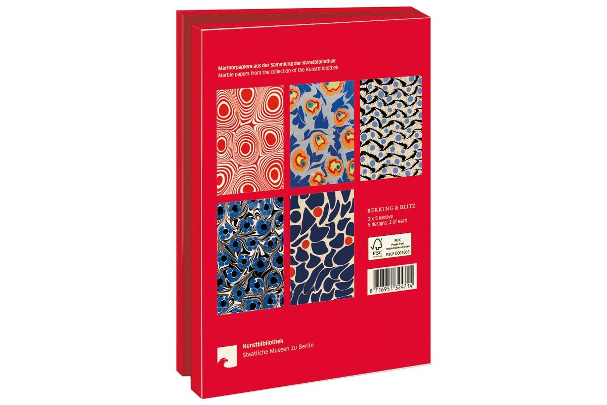 Grußkartenset Marmorpapiere