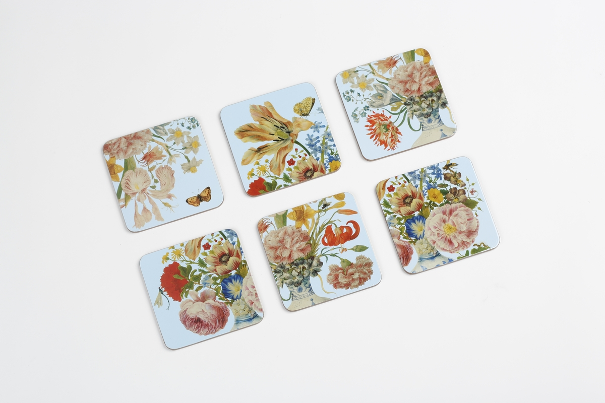 Coaster set Merian, Flowers