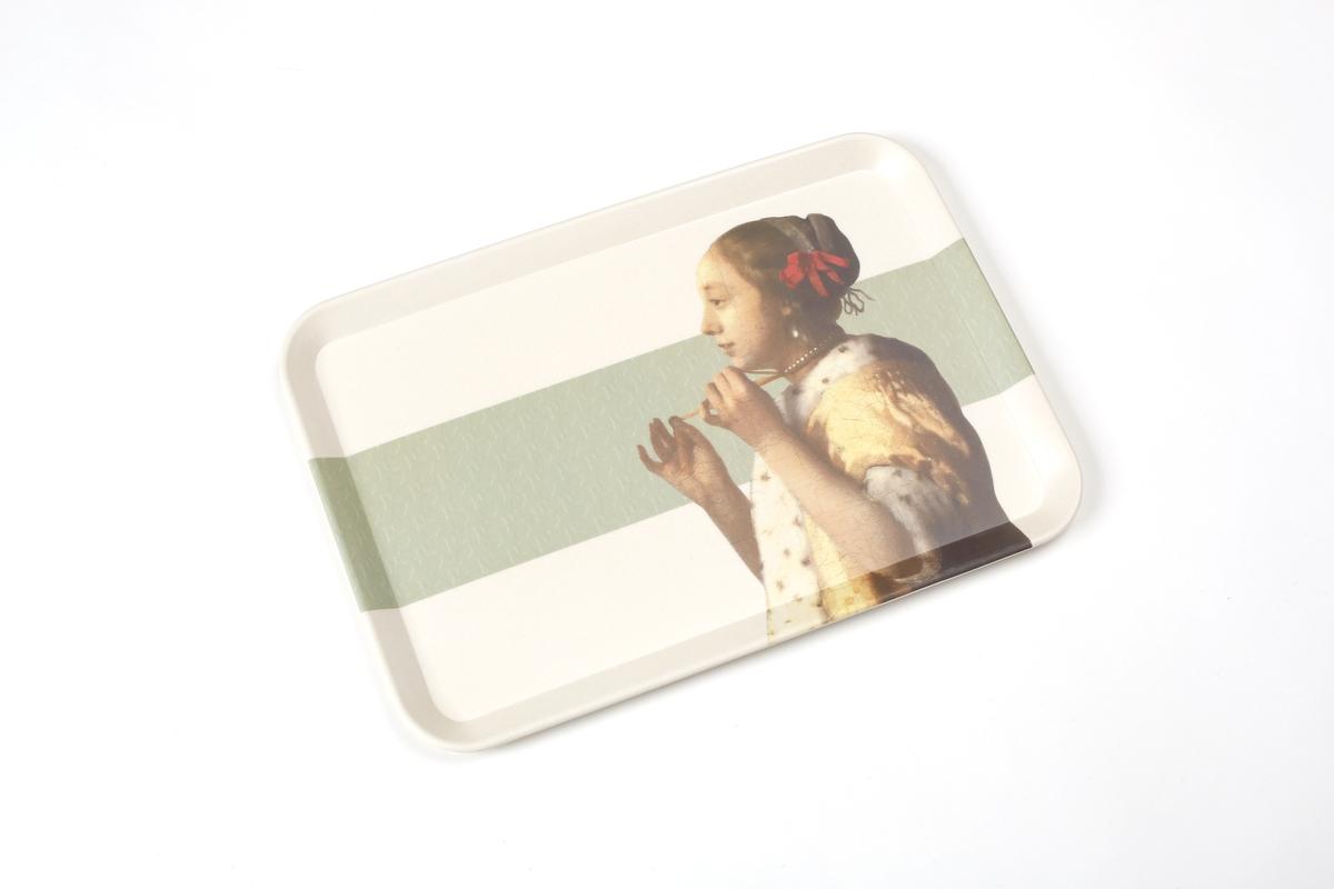 Tablett Vermeer, Junge Dame mit Perlenhalsband