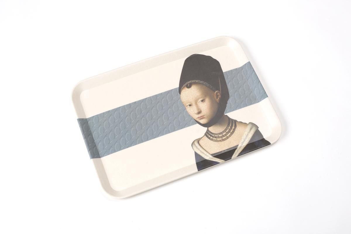 Tablett Petrus Christus, Portät einer jungen Frau