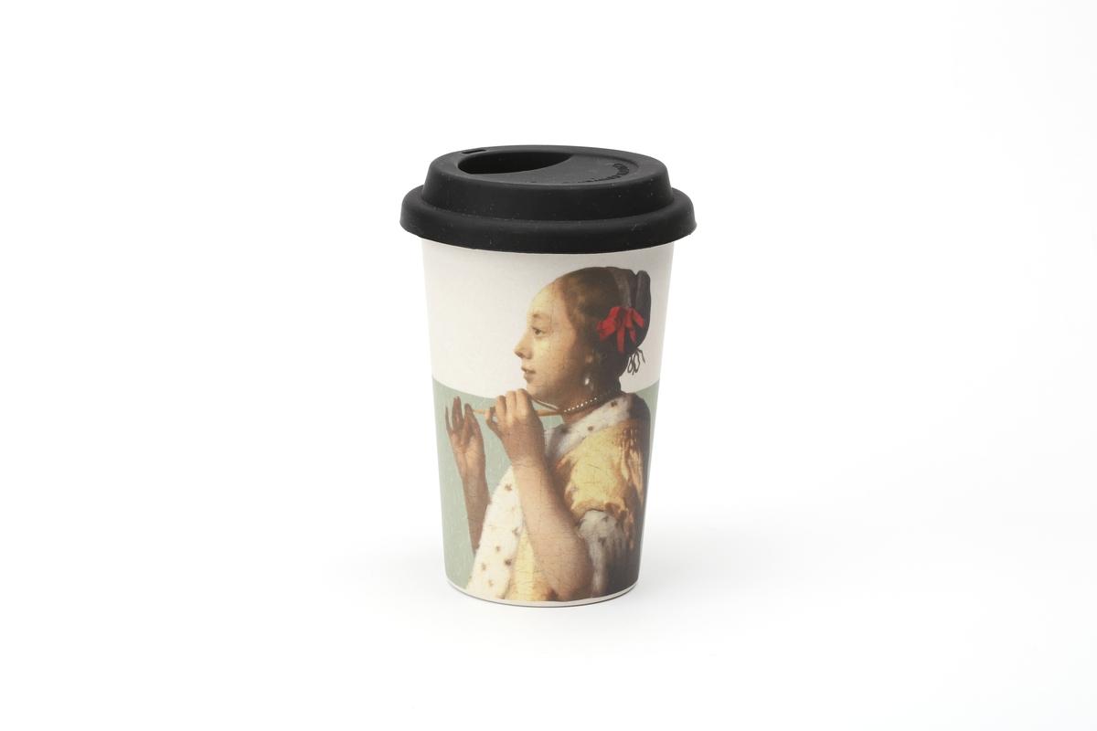 Becher L Vermeer, Junge Dame mit Perlenhalsband