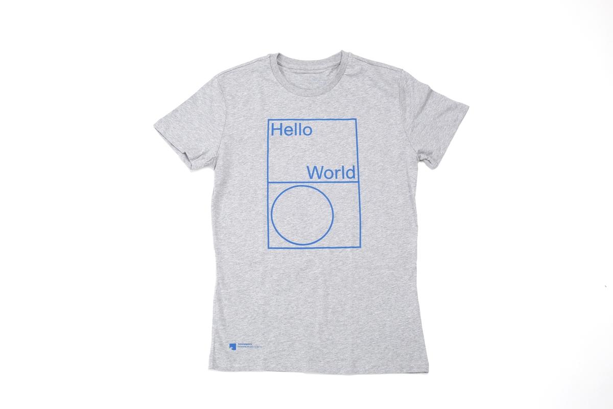 T-Shirt Hello World: Herren, S, M, L, XL