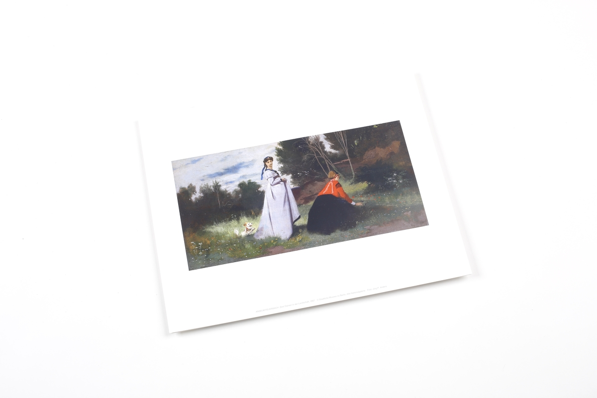 Miniprint Feuerbach: Landscape with Two Women