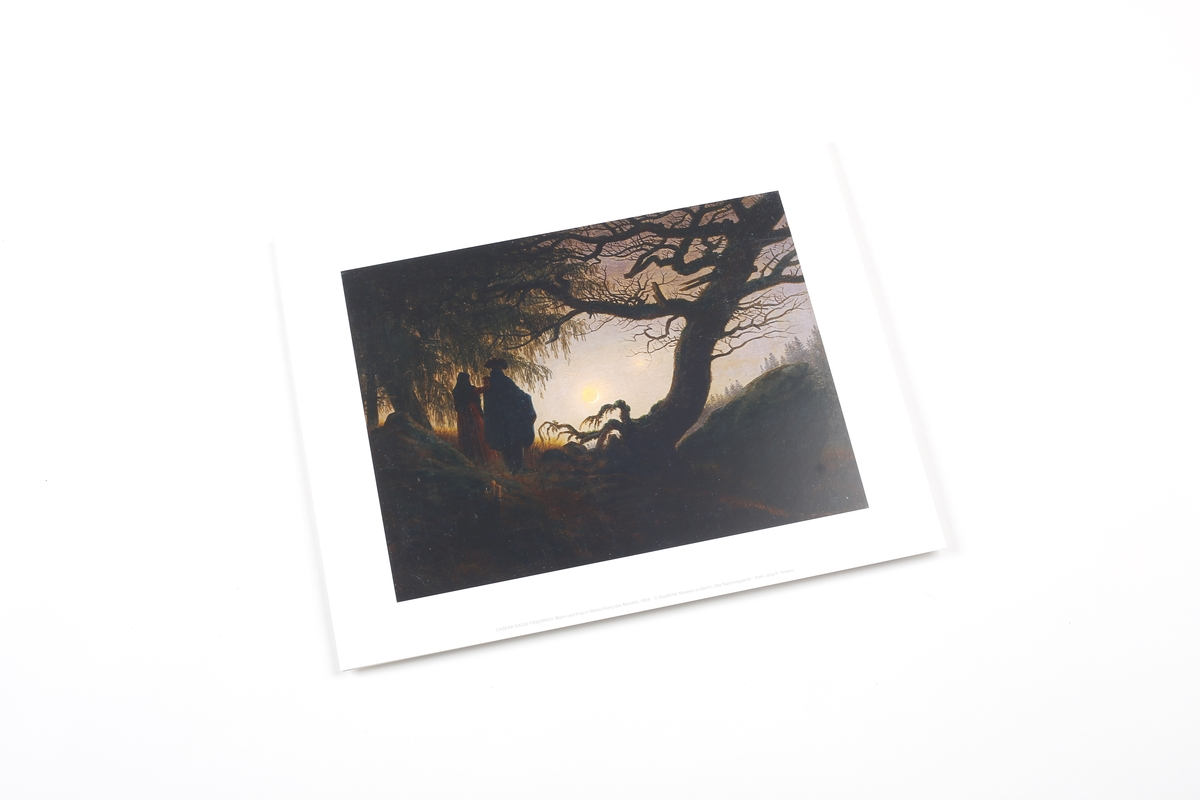 Miniprint Friedrich: Man and Woman Contemplating the Moon