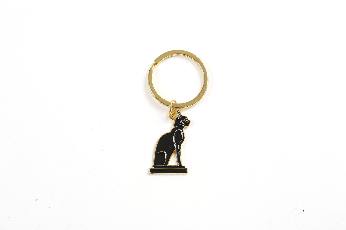Keyring pendant Statuette of the goddess Bastet