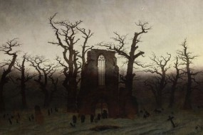 Art print Friedrich, Abbey in the Oakwood
