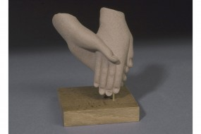 Painted replica: Hands from a group of figures
