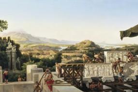Kunstdruck Schinkel, Blick in Griechenlands Blüte