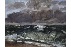 Art print Courbet, The Wave