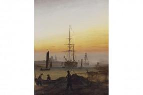 Kunstdruck Friedrich, Der Greifswalder Hafen