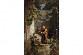 Art print Spitzweg, The Minister Tending His Cactuses