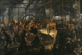Art print Menzel, The Iron Rolling Mill