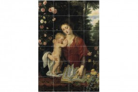 Mural Rubens, Mary with Christ Child