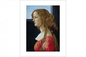Miniprint Botticelli, Portrait einer Dame