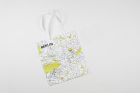 Tote bag big: Crumpled City Berlin