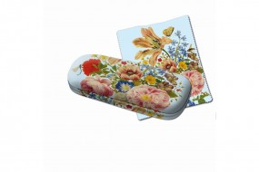 Spectacle case with cleanng cloth: Merian