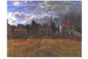 Kunstdruck Monet, Häuser in Argenteuil
