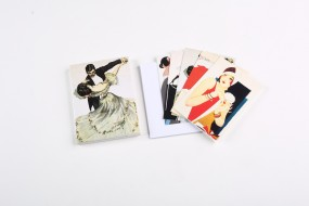Set of folded cards Fashion